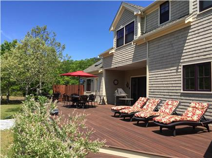 West Tisbury Martha's Vineyard vacation rental - Large private back yard