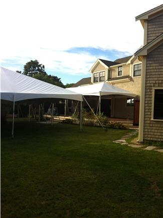 West Tisbury Martha's Vineyard vacation rental - Set up for private wedding with 30'x50' tent on grounds