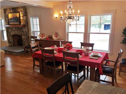 West Tisbury Martha's Vineyard vacation rental - Dining room table opens to 10 feet and seats 12 people