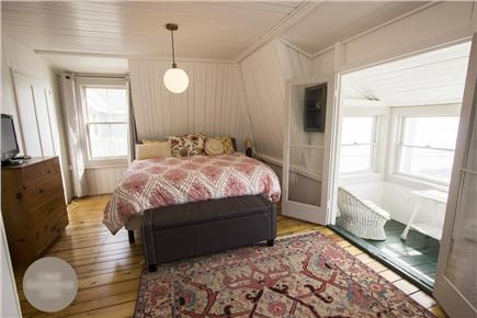Oak Bluffs Martha's Vineyard vacation rental - Master Bedroom w/ Ocean View Porch (King Bed)