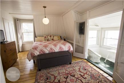 Oak Bluffs Martha's Vineyard vacation rental - Master Bedroom w/ Ocean View Porch (King Bed)