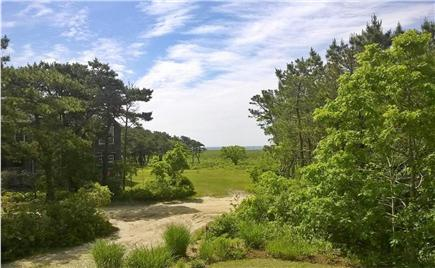 Chappaquiddick, Edgartown Martha's Vineyard vacation rental - Ocean view from upstairs front porch