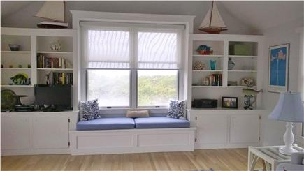 Chappaquiddick, Edgartown Martha's Vineyard vacation rental - Living room window overlooking view to bay