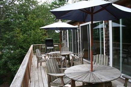 Vineyard Haven Martha's Vineyard vacation rental - Upstairs deck seats eight
