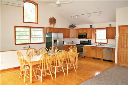 Vineyard Haven Martha's Vineyard vacation rental - Kitchen and dining area; table seats eight