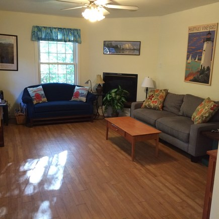 Oak Bluffs Martha's Vineyard vacation rental - Living room with plenty of seating and large TV