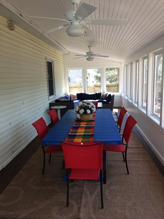 Oak Bluffs Martha's Vineyard vacation rental - Beautiful screened in deck with dining and seating added in 2018