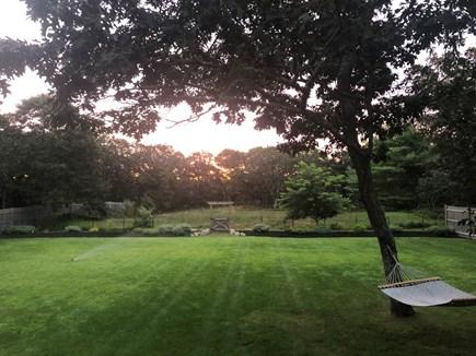 Edgartown Martha's Vineyard vacation rental - Our beautiful backyard with glorious sunset views.