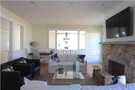Katama - Edgartown,  Edgartown Martha's Vineyard vacation rental - Living room looking into dining room