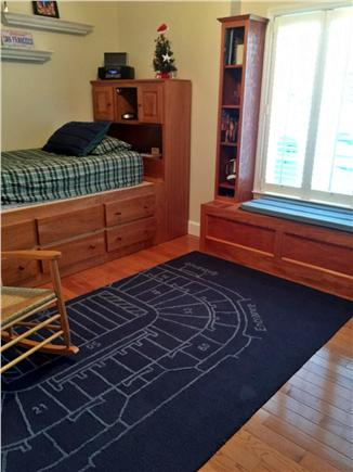 Vineyard Haven Martha's Vineyard vacation rental - Twin bed with storage underneath. Flat screen TV also on wall.