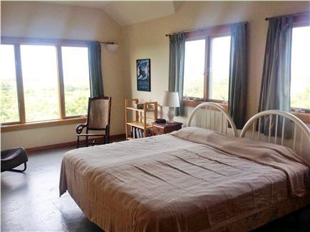Aquinnah Martha's Vineyard vacation rental - 2nd floor guest bedroom with king - great views of Vineyard Sound
