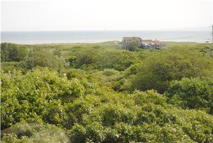Aquinnah Martha's Vineyard vacation rental - Vineyard Sound & Chilmark coast from 1st floor deck to northeast