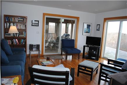 Aquinnah Martha's Vineyard vacation rental - Living room with flat screen TV