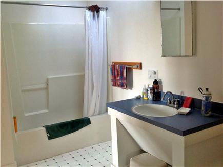 Aquinnah Martha's Vineyard vacation rental - Master bathroom with skylight