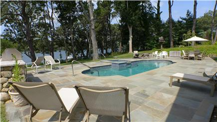 Oak Bluffs Martha's Vineyard vacation rental - Magnificent flagstone patio with Gunite pool with waterview