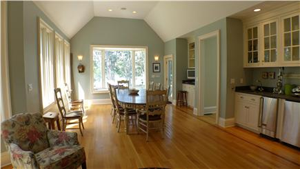 Oak Bluffs Martha's Vineyard vacation rental - Dining for 10/wet bar over looks patio/pool with water views