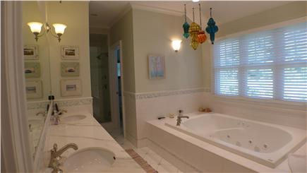 Oak Bluffs Martha's Vineyard vacation rental - Luxurious sunken tub, his and her vanity, separate shower