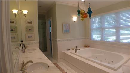 Oak Bluffs Martha's Vineyard vacation rental - Luxurious sunken tub, his and her vanity, separate shower