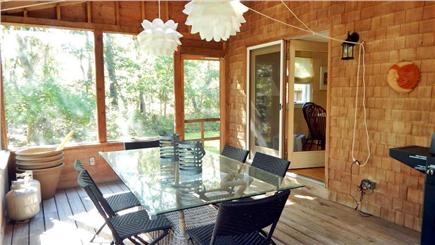 Oak Bluffs Martha's Vineyard vacation rental - Extra Dining Space inside the porch
