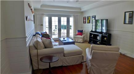 Edgartown Martha's Vineyard vacation rental - Lower level media room with a view