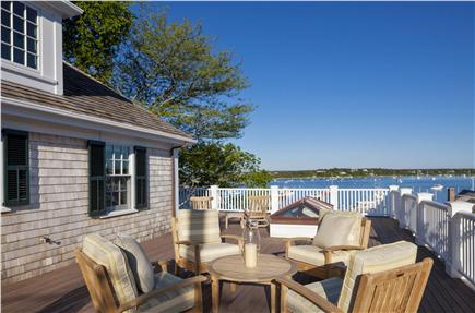 Edgartown Martha's Vineyard vacation rental - View of harbor from second story deck