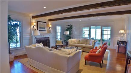 Edgartown Martha's Vineyard vacation rental - Living room richly detailed with elegance and simplicity