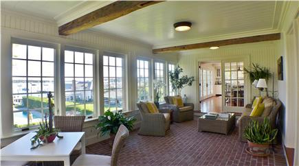 Edgartown Martha's Vineyard vacation rental - Enjoy morning coffee in the delightful enclosed patio