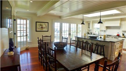 Edgartown Martha's Vineyard vacation rental - Chef's kitchen, dining with water view