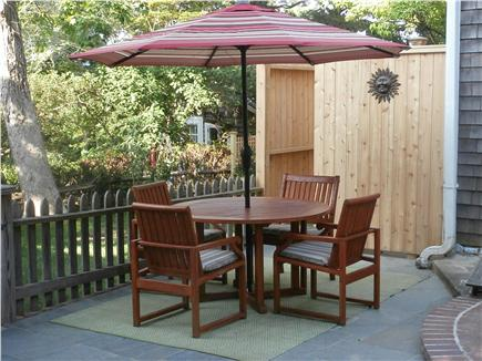 Vineyard Haven Martha's Vineyard vacation rental - Outdoor dining and oversized cedar shower