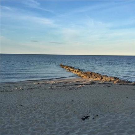 Oak Bluffs, Waban Park Martha's Vineyard vacation rental - The beautiful Oak Bluffs beach at the end of the road.