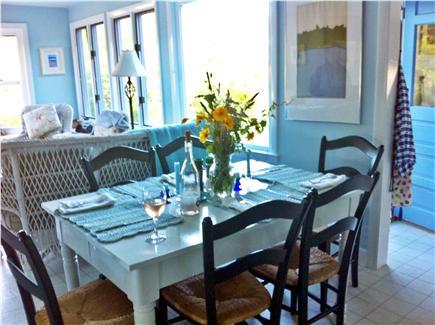 Oak Bluffs, Waban Park Martha's Vineyard vacation rental - Enjoy wonderful dining with fabulous ocean views