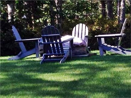Vineyard Haven Martha's Vineyard vacation rental - Back yard/firepit
