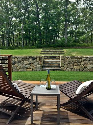 Vineyard Haven Martha's Vineyard vacation rental - Private deck off living room
