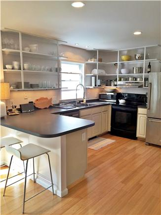 Vineyard Haven Martha's Vineyard vacation rental - Fully equipped kitchen (now with updated gas stove and counter)