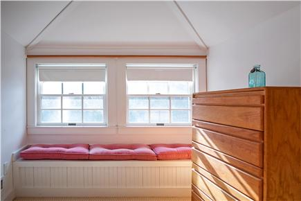 Oak Bluffs Martha's Vineyard vacation rental - Smaller window seat over looking back yard