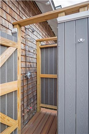 Oak Bluffs Martha's Vineyard vacation rental - Outdoor shower /private back deck w/direct access thru slider