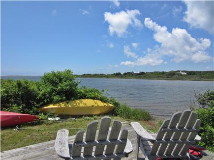 Edgartown Martha's Vineyard vacation rental - Boat landing on Edgartown Great Pond, 5 minute walk from cottage