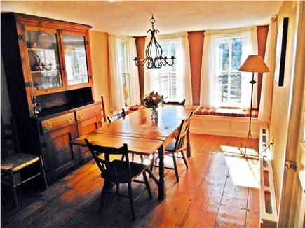 West Tisbury, North Tisbury Martha's Vineyard vacation rental - Dining room with sunny south facing window seat. Table seats 10