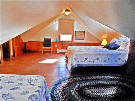 West Tisbury, North Tisbury Martha's Vineyard vacation rental - Gabled bedroom with one queen and one twin bed