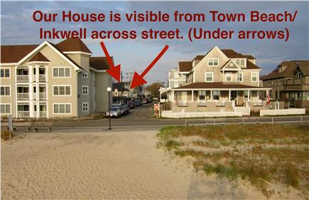 Oak Bluffs, Copeland District Martha's Vineyard vacation rental - House is visible from Oak Bluffs Town Beach/Inkwell across street