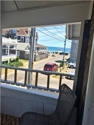 Oak Bluffs, Copeland District Martha's Vineyard vacation rental - View from balcony toward Seaview Ave, to Town Beach (Inkwell)