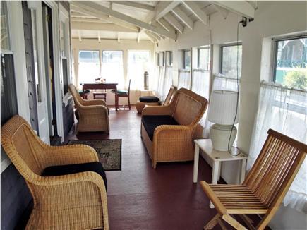 Oak Bluffs, Copeland Historic District Martha's Vineyard vacation rental - Comfortable screen porch with beach view