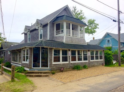 Oak Bluffs, Copeland District Martha's Vineyard vacation rental - Private 2nd floor balcony.  New parking area in front of cottage.