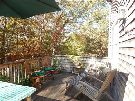 Oak Bluffs Martha's Vineyard vacation rental - Nicely Furnished Deck for Outdoor Dining & Relaxing