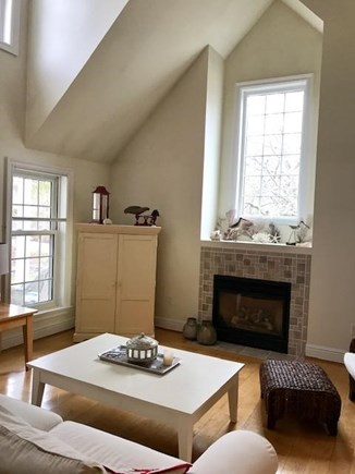 West Tisbury Martha's Vineyard vacation rental - Gas fireplace and plenty of light in this comfortable living room