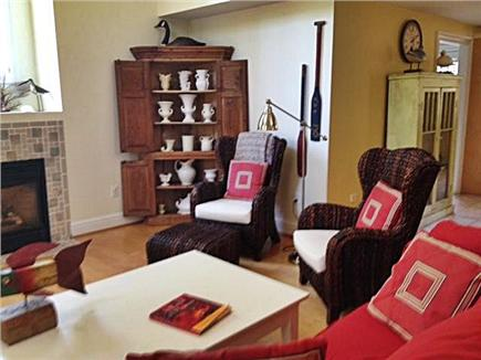 West Tisbury Martha's Vineyard vacation rental - Living room  with Pottery Barn Chairs is a delightful area