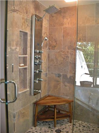 Chilmark Martha's Vineyard vacation rental - Walk in Tile Shower in the Master Bath