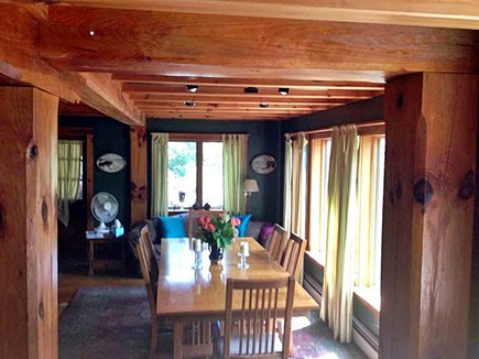 Chilmark Martha's Vineyard vacation rental - Dining Room - view from the Cockpit