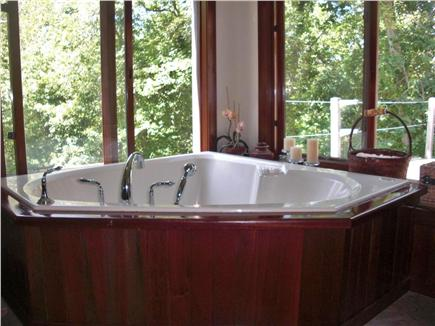 Chilmark Martha's Vineyard vacation rental - 2 person Jacuzzi Tub in the Master Bath