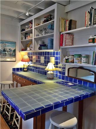 Oak Bluffs, Copeland district. In town by  Martha's Vineyard vacation rental - Easy kitchen. Open shelves, plus separate pantry.